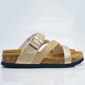 Beach Buckle Strap Sandals For Ladies
