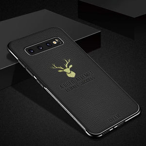 Deer Leather Soft Protector Cases For Samsung S10 lite S10 plus S10