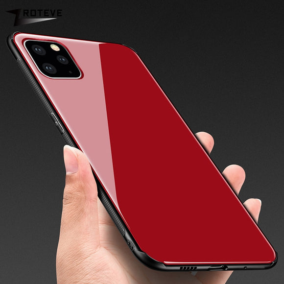 Silicone Mirror Glass Cover For iPhone11 11 Max 11 Pro Max