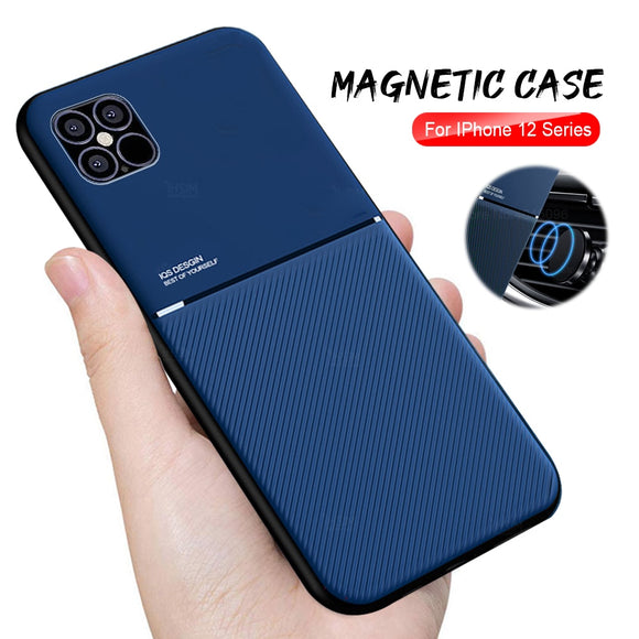 Shockproof Magnetic Car Holder Cover For iPhone12 pro max 12 mini 12
