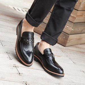 Business Genuine Leather Soft Casual Breathable Men's Flats Shoes
