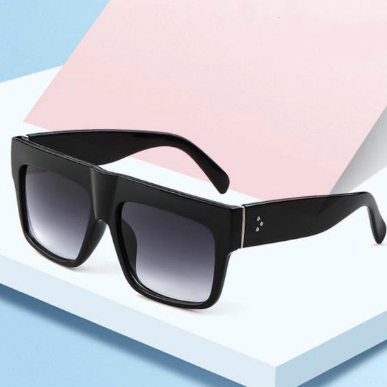 Brand Designer Square Rivet Frame  Fashion Sunglasses