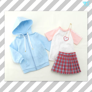 Candy Blue Hoodie Set