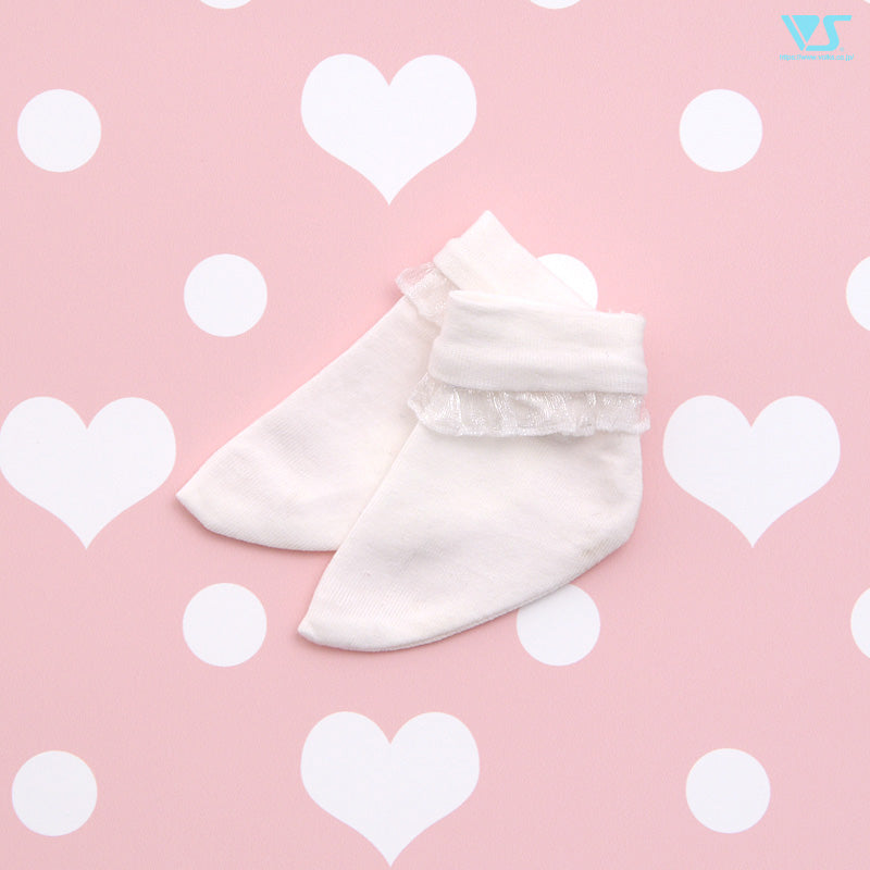 Crew Socks (White / Frilled)