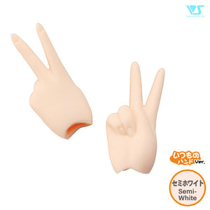 DDII-H-02-SW / Scissors/Peace Hands / Semi-White