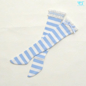 Laced Socks (Blue Stripes)