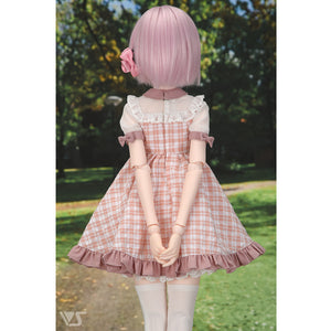 Pink Yoke Dress Set