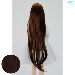 DD Hair Wig Long with Side Curls / Rich Brown(W-139D-M33/12)
