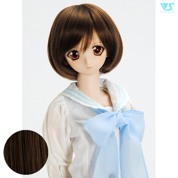 DD Hair Wig Tomboy Bob / Charcoal Brown (W-161D-ChBr)