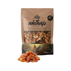Anthap Brown Dried Raisins with Seed - Besni Üzümü