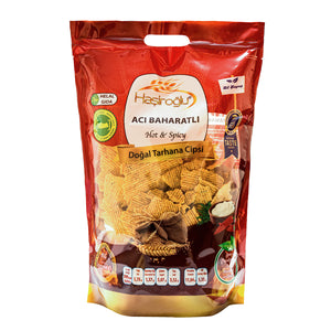 Hasiroglu Natural Bol Yogurt Maras Tarhana Chips Hot & Spicy/(Dogal Bol Yogurtlu Acili Maras Tarhanasi Cips) 450g