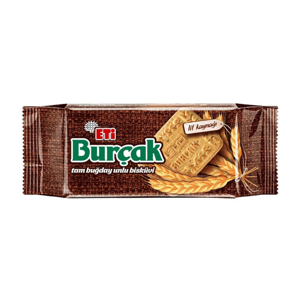 Eti Burcak Whole Wheat Bakery Biscuit (Tam Bugday Unlu Biskuvi)