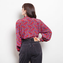 Load image into Gallery viewer, 100% Silk Paisley Blouse
