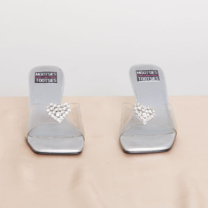 2000s Square Toe Clear Slide Heels