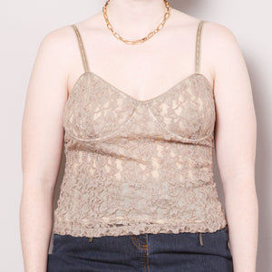 2000s The Limited Lace Bustier Top
