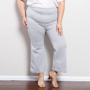 70s Flared Gingham Bell Bottoms