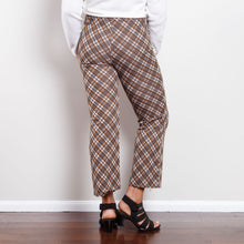 Load image into Gallery viewer, 70s Plaid Cropped Bell Bottoms