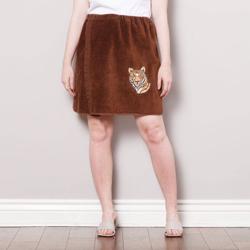 70s Terrycloth Tiger Skirt
