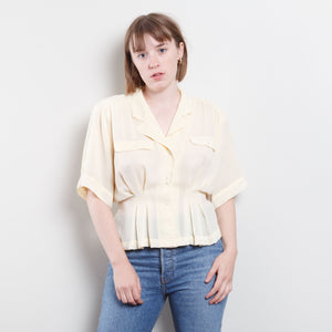 80s Cinched Sheer Blouse