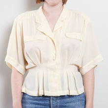 Load image into Gallery viewer, 80s Cinched Sheer Blouse