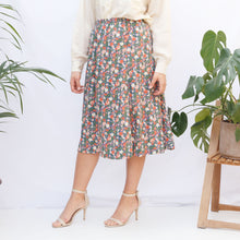Load image into Gallery viewer, 80s Floral Midi Skirt