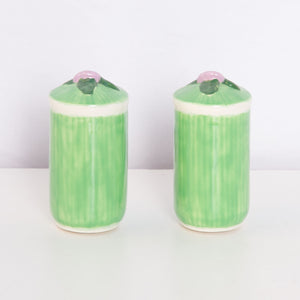 80s Floral Pastel Salt and Pepper Shakers