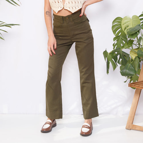 80s High Waisted Military Pants