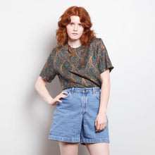 Load image into Gallery viewer, 80s Paisley Silk Blouse