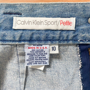 80s/90s Calvin Klein Denim Skirt