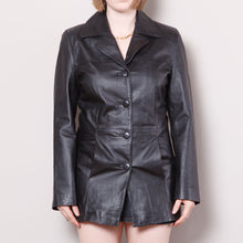 Load image into Gallery viewer, 90s/2000s Leather Trench Coat