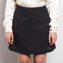 Load image into Gallery viewer, 90s A-Line Black Skirt