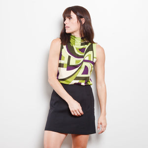 90s Abstract Sleeveless Top