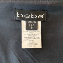Load image into Gallery viewer, 90s Black Bebe Mini Skirt