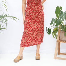Load image into Gallery viewer, 90s Floral Skirt and Top Set