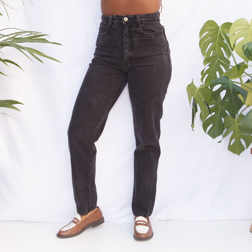 90s High Waisted Black Jeans