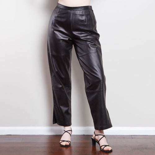 90s High Waisted Leather Pants
