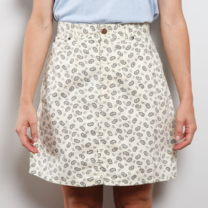 90s High Waisted Paisley Skirt