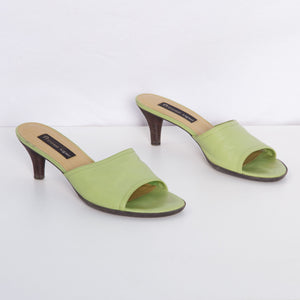 90s Lime Green Kitten Heels