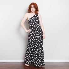 Load image into Gallery viewer, 90s One Shoulder Polka Dot Dress
