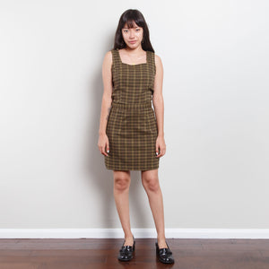 90s Plaid 2 Piece Skirt and Top Set