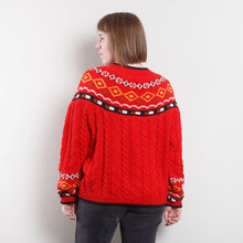Load image into Gallery viewer, 90s Red Western Knit