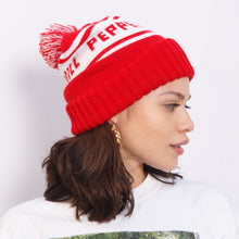 Load image into Gallery viewer, 90s Red and White Beanie
