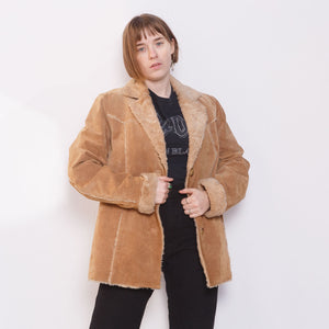 90s Suede Patchwork Coat