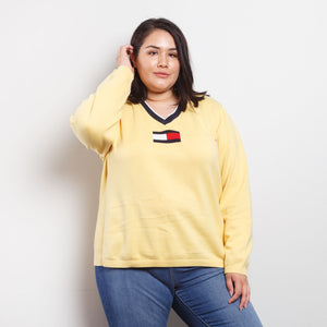 90s Tommy Hilfiger Yellow Sweater