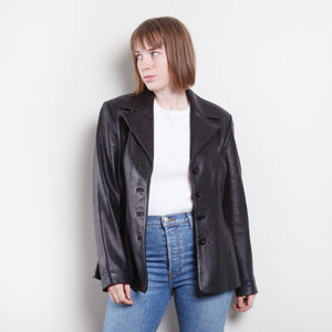 90s Wilson Leather Trench Coat