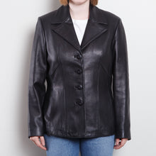 Load image into Gallery viewer, 90s Wilson Leather Trench Coat