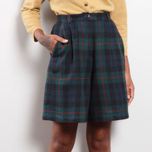 Load image into Gallery viewer, 90s Wool Plaid Shorts