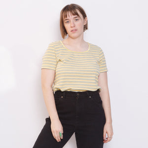 90s Yellow Striped Tee