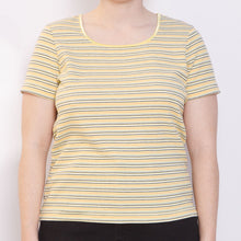 Load image into Gallery viewer, 90s Yellow Striped Tee
