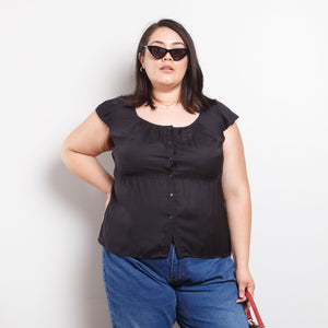 90s/2000s Black Bodice Top